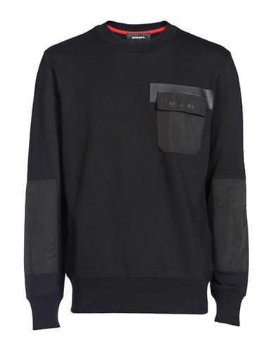 Diesel S-Chrome Sweatshirt-BLACK-Medium