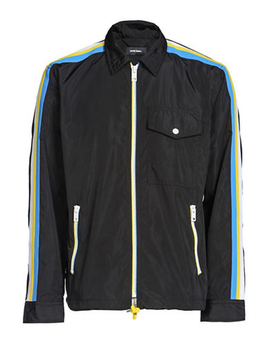 Diesel J-Ribplaza Jacket-BLACK-Large