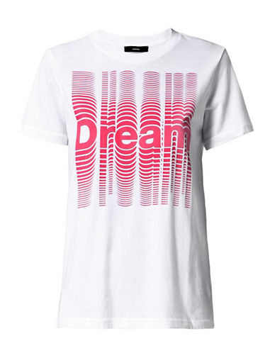 Diesel T-SILY-Z T-Shirt-WHITE-Small 90003388_WHITE_Small