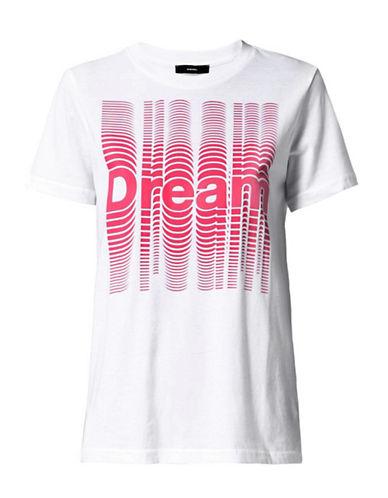 Diesel T-SILY-Z T-Shirt-WHITE-Large 90003390_WHITE_Large