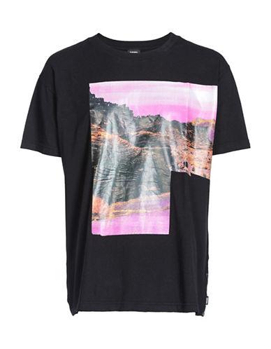 Diesel T-Wallace-SL T-Shirt-BLACK-Medium 89865061_BLACK_Medium