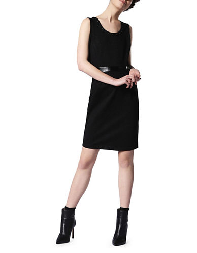 Diesel Studded Sleeveless Dress-BLACK-Large