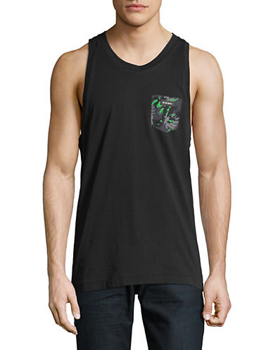 Diesel Loco Cotton Tank Top-BLACK-Medium 89891226_BLACK_Medium