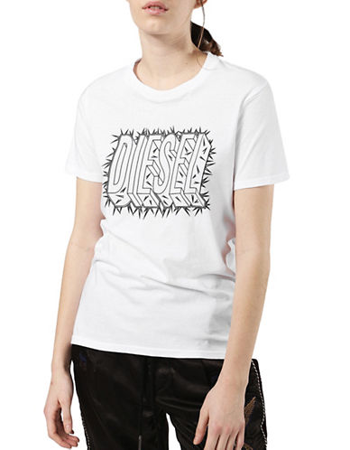 Diesel T-SILY-N T-Shirt-WHITE-Large 90007637_WHITE_Large