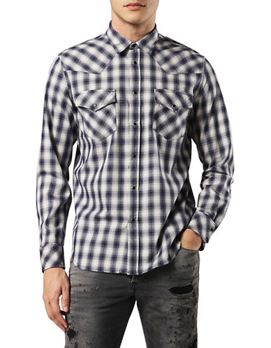 Diesel S-East-CH Shirt-BLUE-XXLarge