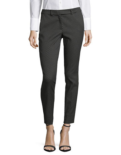 Marella Geo-Print Stretch-Fit Trousers-BLACK-2