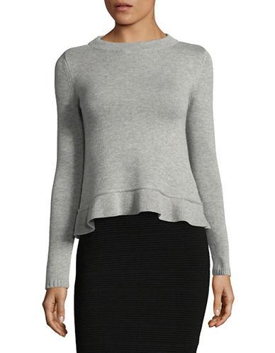 Marella Diva Ruffle-Hem Sweater-GREY-X-Large 89518149_GREY_X-Large