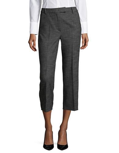 Marella Nausica Houndstooth Trousers-GREY-10