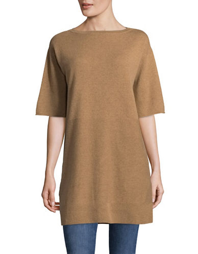 Marella Toronto Long-Line Wool Sweater-CAMEL-XX-Large