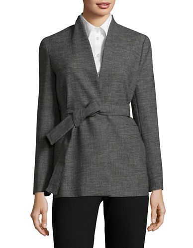 Marella Genius Checked Tweed Jacket-GREY-8