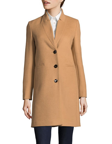 Marella Addirsi Wool Coat-BROWN-2