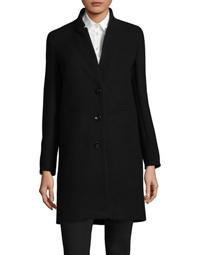 Marella Wool Blend Addirsi Car Coat-BLACK-10
