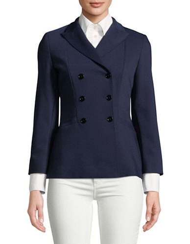 Marella Buono Double-Breasted Jacket-NAVY-8