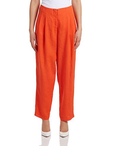 Armani Jeans Pleated Linen Pants-ORANGE-31