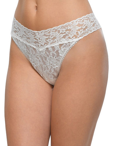 Hanky Panky Original Rise Lace Thong-MARSHMELLOW-One Size