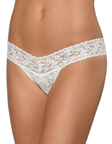 Hanky Panky Low Rise Bride Thong-IVORY-One Size