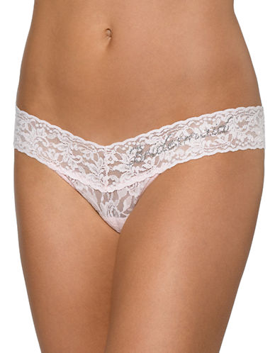 Hanky Panky Low Rise Bridesmaid Thong-PINK-One Size