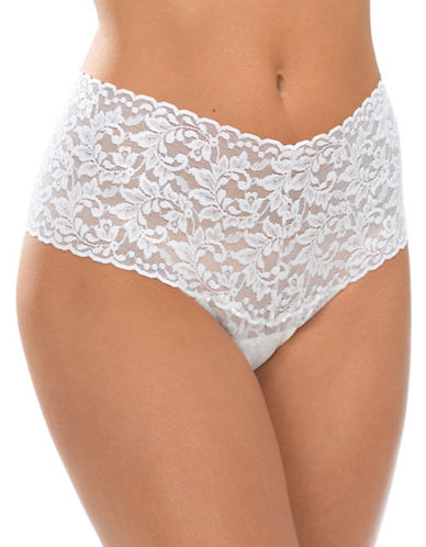 Hanky Panky Retro Lace Thong-MARSHMELLOW-One Size