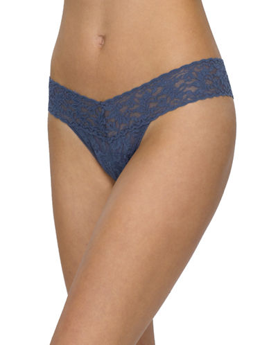 Hanky Panky Signature Lace Low-Rise Thong-NIGHTSHADOW-One Size