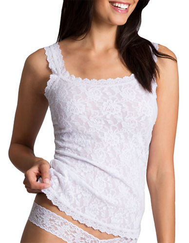 Hanky Panky Lace Camisole-WHITE-Large