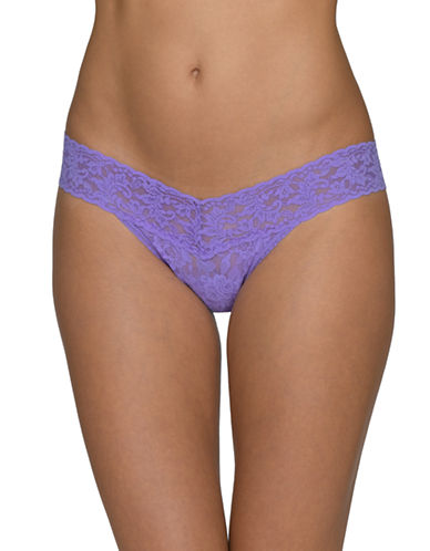Hanky Panky Signature Lace Low-Rise Thong-ELECTRIC ORCHID-One Size