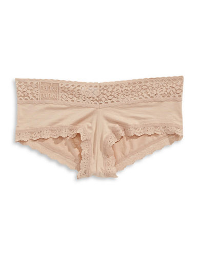 Hanky Panky Logo-to-Go Modal Boy Short-BEIGE-Medium