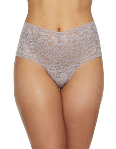 Hanky Panky Retro Lace Thong-STEEL-One Size