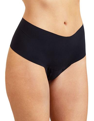 Hanky Panky Bare Godiva Retro Style Thong-BLACK-Large