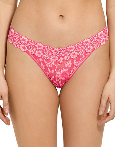 Hanky Panky Cross Dye Original Rise Thong-CORAL-One Size