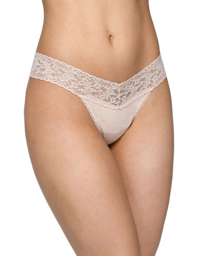 Hanky Panky Low-Rise Thong-CHAI-One Size
