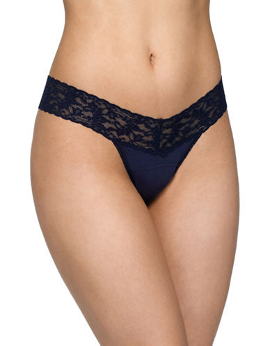 Hanky Panky Low-Rise Thong-NAVY-One Size