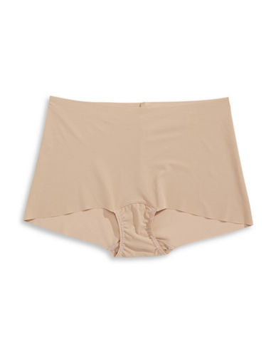 Hanky Panky Bare Seam-Free Boyshort Panties-BEIGE-Medium