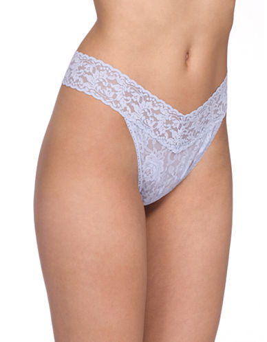 Hanky Panky Original Rise Lace Thong-DOVE-One Size