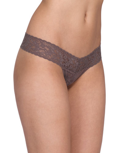 Hanky Panky Signature Lace Low-Rise Thong-CAPPUCCINO-One Size