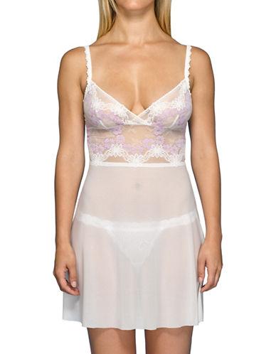 Hanky Panky Violet Flower Chemise-PURPLE-Medium plus size,  plus size fashion plus size appare