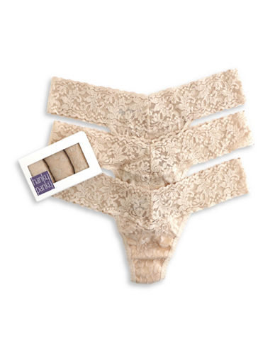 Hanky Panky Set of Three Floral Low-Rise Thong-CHAI-One Size