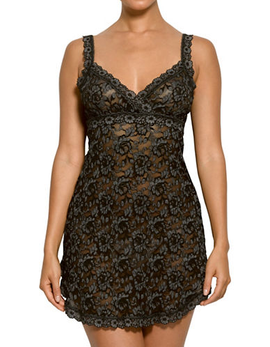 Hanky Panky Signature Floral Lace Chemise-BLACK-Small