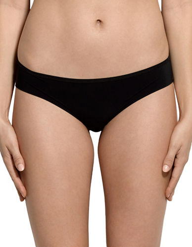 Hanky Panky Bare and Lace Hipster Panty-BLACK-Small