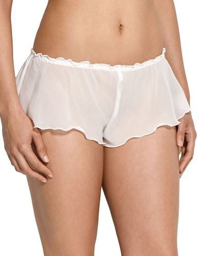 Hanky Panky Chiffon Tap Pants-OFF WHITE-Small