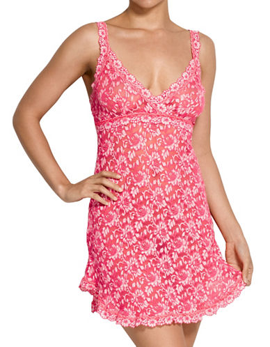 Hanky Panky Signature Floral Lace Chemise-CORAL-Large