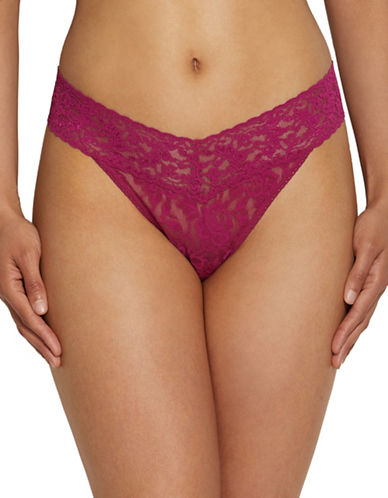 Hanky Panky Signature Lace Thong-DARK PINK-One Size