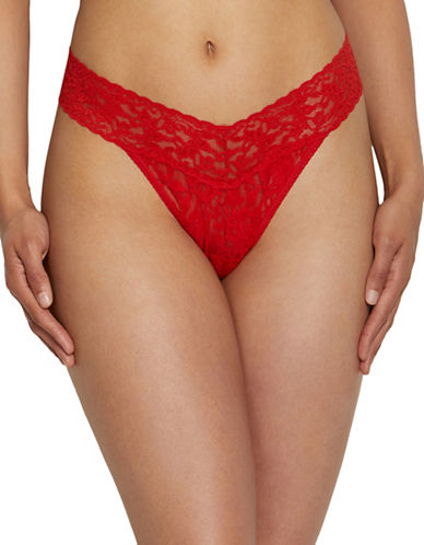 Hanky Panky Original Rise Lace Thong-SIRARCHA RED-One Size