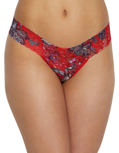 Hanky Panky Fiery Floral Low Rise Thong-FLORAL-One Size