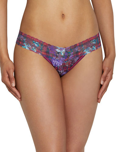 Hanky Panky Hyland Garden Low-Rise Thong-MULTI-One Size