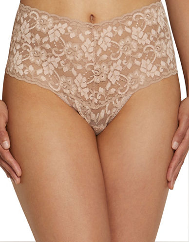 Hanky Panky Cross Dye Retro Thong-VANILLA-One Size