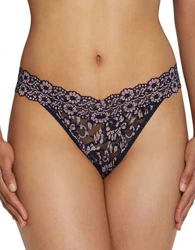 Hanky Panky Cross Dye Original Rise Thong-NAVY/PINK-One Size