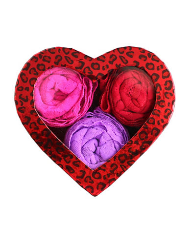 Hanky Panky 3-Pack Original Rise Thongs in Heart-Shaped Box-SWEET VALENTINE-One Size