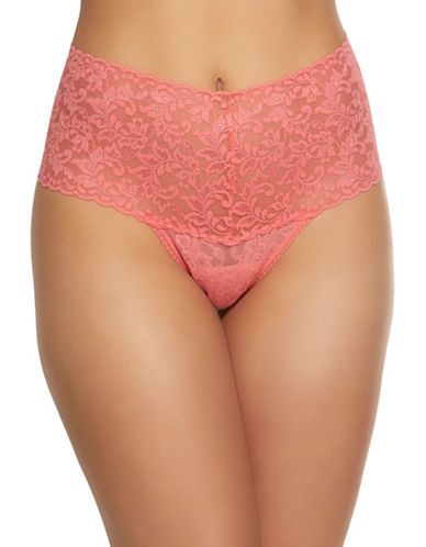 Hanky Panky Retro Lace Thong-PEACH-One Size