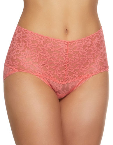 Hanky Panky Retro Lace Thong-PEACHY KEEN-Small