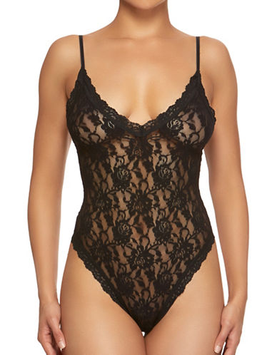 Hanky Panky Signature Lace Thong Bodysuit-BLACK-Small